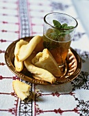 Gazelle's horns (pastries) & a glass of mint tea (Morocco)