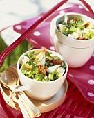 Feta salad in small bowls