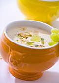 Gazpacho blanco (cold almond and garlic soup, Spain)