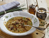 Metzelsuppe (Sausage soup for Butchers' Festival, Bavaria)