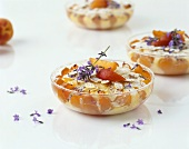 Ricotta and apricot pudding