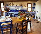 Kitchen with dining table and chairs