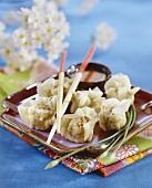 Xiu Mai (Teigtasche mit Krabben und Schweinefleisch gefüllt)