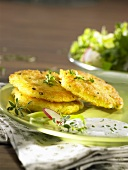 Potato pancakes with herb quark