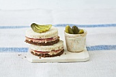Monk & nun (Pumpernickel & white bread sandwich, Westphalia)