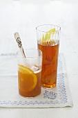 Krambambuli (drink made with tea & white wine) & orange punch
