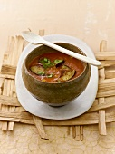 Ayurvedic aubergine soup