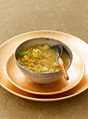 Mung dal soup with fennel