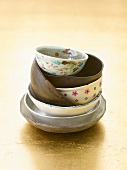 Soup bowls, stacked