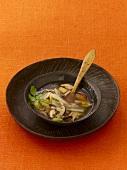 Shiitake soup with miso