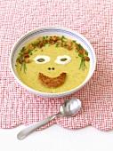 Cream of vegetable soup for children