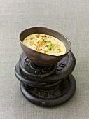 Cold yoghurt soup with lentils