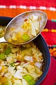 Zeleva chorba (Bulgarian cabbage soup)