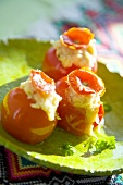 Tomatoes stuffed with bean puree (Ukraine)