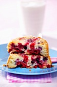 Individual berry pudding for children