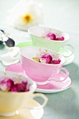 Floral cups and saucers