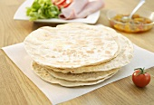 Home-made wheat tortillas
