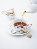 Pouring East Frisian tea