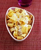 Pappardelle with foie gras and cream sauce