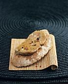 Goose liver confit on bread