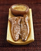 Roast duck fillet with sauce normande
