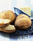 Breton bread rolls with salt and butter