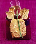 Goose liver terrine with toasted bread