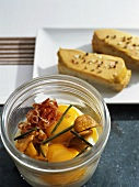 Oeufs cocotte and foie gras