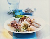 Platter of fresh seafood