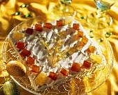 Mazurek with candied fruit (Polish Easter cake)