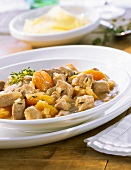 Pork goulash with apricots