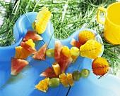 Fruit skewers for children