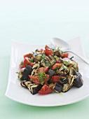 Tomato and aubergine salad