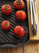 Grilled tomatoes in a grill pan