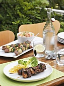 Grilled beef and lamb kebabs