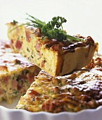 Bacon and vegetable quiche