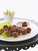 Asian pork and chicken meatballs