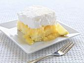 A piece of lemon meringue cake
