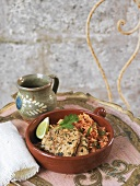 Mexican-style pork with tomato rice