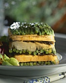 Vegetable terrine with green beans
