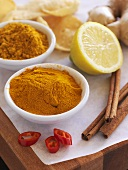 Curry powder with ingredients