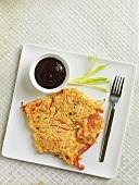 Asian-style prawn pancake
