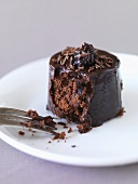 Small chocolate cake with prune and Drambuie