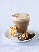 Florentines and a glass of coffee