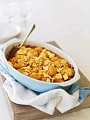 Cauliflower and tomato bake in baking dish