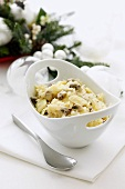 Sauerkraut with pasta and mushrooms for Christmas (Poland)