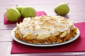 Apple meringue pie with cornflake crust