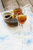Dried fruit liqueur