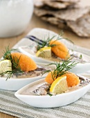 Herring with vendace roe and dill (Sweden)