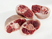 Slices of knuckle of pork